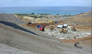 Modern landfill operation at Waimanalo Gulch, ...