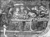An illustration to Lokasenna. The list of illu...