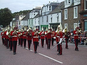 English: Marching Band in Kirkcudbright