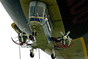 The gondola of an airship.