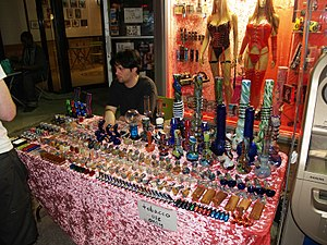 Bong and water pipe dealer on St. Mark's Place...