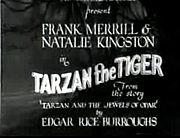 Titoli di Tarzan the Tiger del 1929