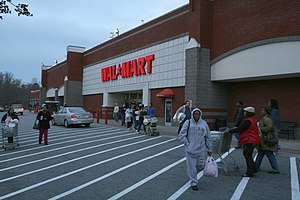 Black Friday shoppers in the morning at Wal-Ma...