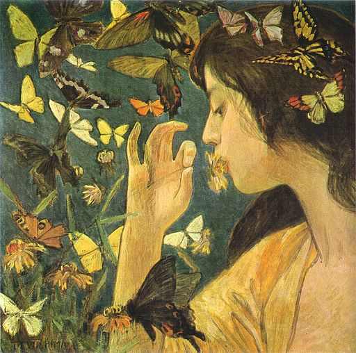 Butterflies by Fujishima Takeji