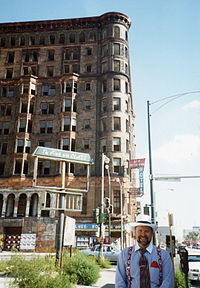 The Lexington Hotel, Chicago. Capones headquarters. Known as Capones castle. Photographed in the early 1990s; it was demolished in 1995.