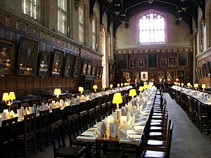 The Dining Hall of Christ Church Oxford, dress...