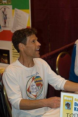 English: Ultramarathon runner Dean Karnazes si...