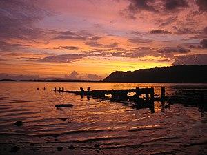 Sunset over Golfito Bay