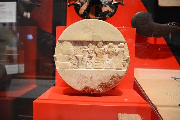 Ancient Sumerian Bas-Relief depicting Enheduanna
