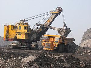 English: Mining in Russia near Mezhdurechensk,...