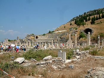 Ephesus on the coast of Asia Minor, birthplace...