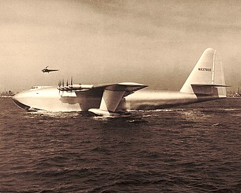 The Hughes H-4 Hercules with Howard Hughes at ...