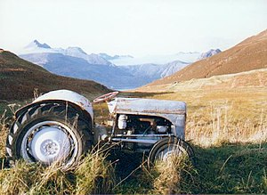 Last resting place, Elgol. This old tractor se...