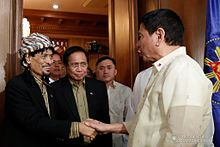 Duterte meeting with MNLF chairman, founder and former ARMM Governor Nur Misuari, November 3, 2016