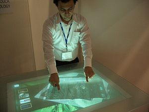 Smart Surface Multi touch table