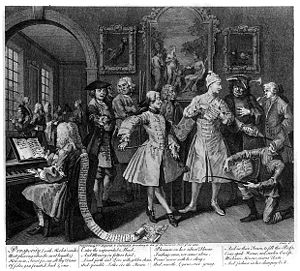 William Hogarth: A Rake's Progress, Plate 2: S...