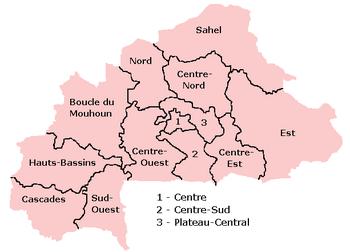 Vùng của Burkina Faso.
