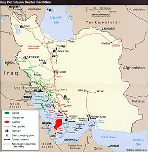 Key Petroleum Sector facilities (2004) Iran (W...