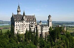 Castle Neuschwanstein at Schwangau, Bavaria, G...
