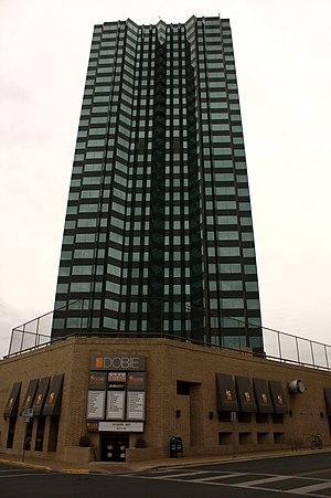 A photograph of the Dobie Center near the Univ...