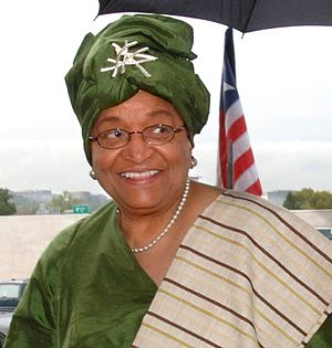 Liberian President Ellen Johnson-Sirleaf at th...