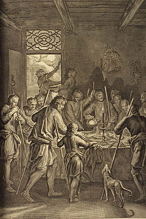 The Israelites Eat the Passover (illustration ...