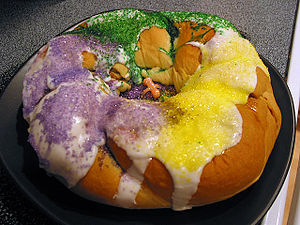 King cake purchased from Rouses in Houma, LA