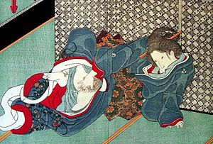 Masturbation was depicted in 19th century Shun...