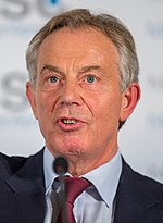 UK Prime Minister Tony Blair, with whom Mugabe had a particularly antagonistic relationship