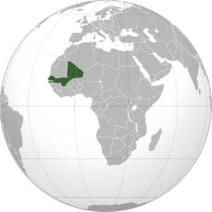English: Green: Mali Federation