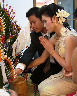 English: Part of a Marriage ceremony in Thaila...