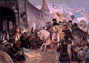 Mihai Viteazul entering Alba Iulia