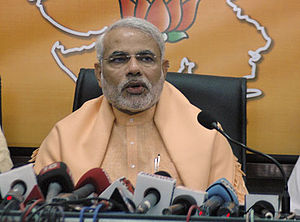 English: Narendra Modi in Press Conference
