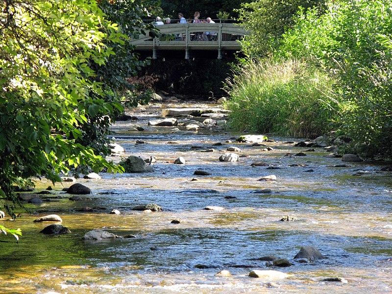 Neumagen in Staufen mit Gusseisenbrücke