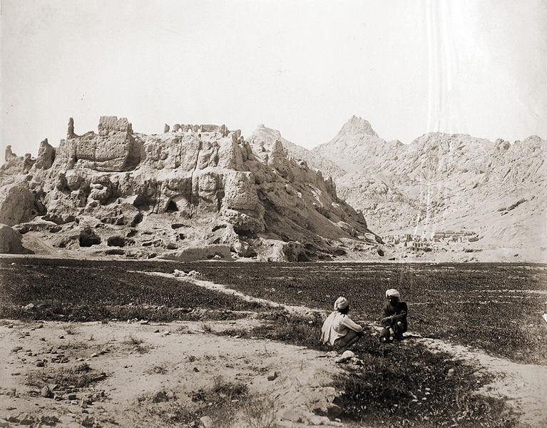 Fichier: Ruines de la Citadelle Kandahar ancienne dans 1881.jpg