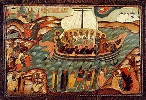 Корабль Веры/ Икона XVII в. Редкостный образ, ...