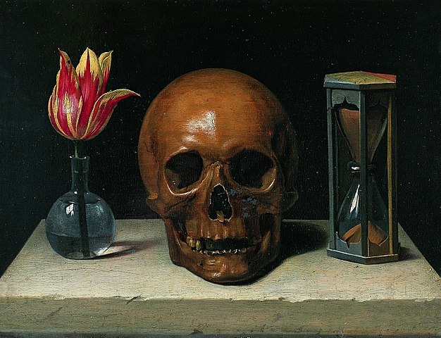 Philippe de Champaigne, Still-Life with a Skull, vanitas painting.