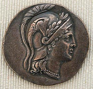 Silver tetradrachm issued by the League of Ath...