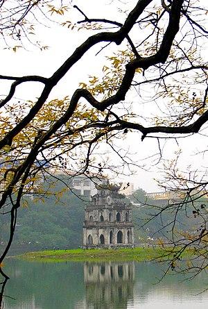 Tiếng Việt: Tháp Rùa giữa hồ Hoàn Kiếm Tiếng V...