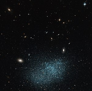 UGC 9128 is a dwarf irregular galaxy, it proba...
