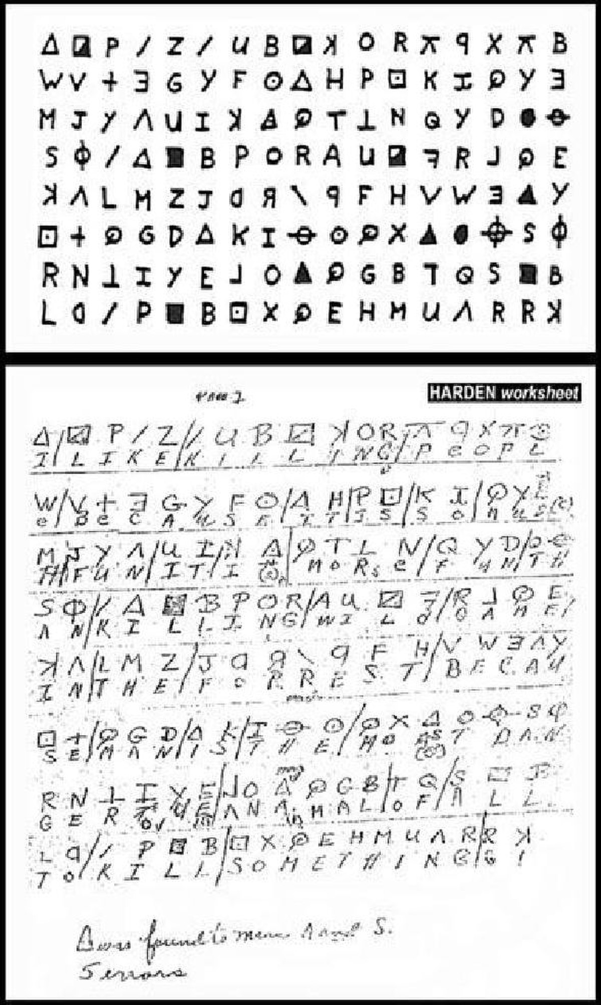 File Zodiac Killer Cipher Deciphered By Donald And Bettye