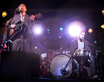 English: Broken Bells performing at Webster Ha...
