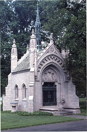 The Busch Mausoleum in Bellefontaine Cemetarie...