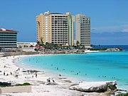 Cancún, importante centro turistico.