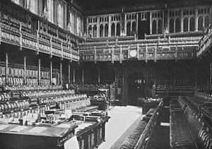 British House of Commons.