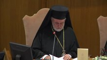 File:John Zizioulas presents the encyclical Laudato si' at the press conference in Rome.webm