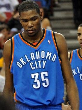English: Kevin Durant of the Oklahoma City Thu...