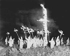 Description: A Ku Klux Klan meeting in Gainesv...