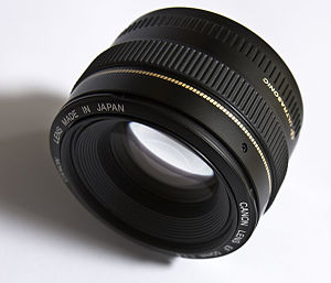 "This image shows a ""Canon EF 50mm f1.4 US..."