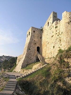 Česky: Černá Hora, Ulcinj - hradby starého města